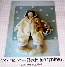 """BEDTIME THINGS clothing patterns for a 16"""" DOLL"""