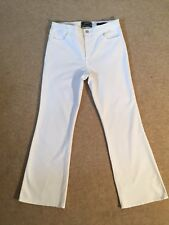 NYDJ cotton & elastane white stretchy boot cut jeans US 31 / UK 13 VGC £150