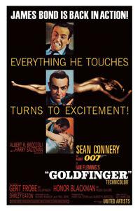 Goldfinger - James Bond / 007 - Movie Poster (Regular Us Style - Sean Connery)
