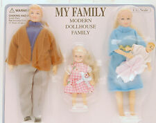 Town Square Miniatures My Family Modern Dollhouse Family 1:12 Style # 00010