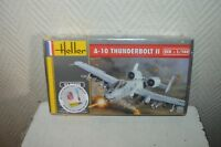 MAQUETTE AVION HELLER A -10 HUNDERBOLT II 1/144 MODEL KIT + PEINTURE NEUF PLANE