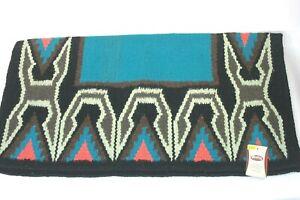 "Weaver Brand Deadwood 33 x 38"" Teal/Blue/Black Topper Saddle Blanket  35-9164"