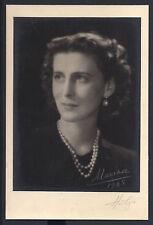 Princess Marina of Greece & Denmark Duchess of Kent Signed Photo 1948