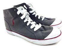 RALPH LAUREN Shoes Canvas High Tops RL Ralph Lauren Polo Gray Canvas Sz 12