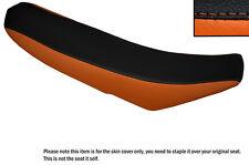 BLACK & ORANGE CUSTOM FITS KTM 450 SXF 07-12 DUAL LEATHER SEAT COVER