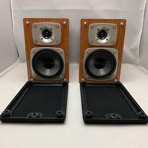 TEAC LS-MC80 Pair of Bookshelf Speakers Woodgrain EUC! Tested Working