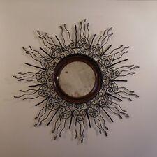 Miroir soleil ferronnerie sun wrought iron art nouveau déco 1920 1930 XXe