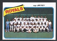 1980 Topps #66 Kansas City Royals Team Card~NM-MT~Unmarked~