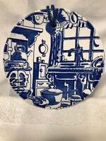 Royal Crownford Ironstone Staffordshire Blue & White Wall Plate