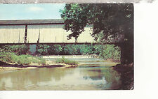 Mansfield Covered Bridge 1867 Side View  Parke County IN  Chrome Postcard 247