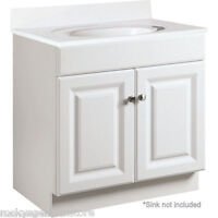 """Bathroom Vanity Cabinet Thermofoil White 24"""" Wide x 18-1/2"""" Deep *Fast Delivery*"""