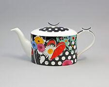 9952238 Porzellan moderne Tee-Kanne Blume mit Punkten Jameson&Tailor 1,8l H14cm