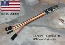 RC Car Receiver to USB Joystick Adapter - 4 Channel Version - Works with VRC Pro