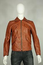 Vintage 70's leather jacket M indie tan brown