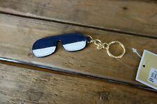 NWT MICHAEL KORS Sunset Shades Leather Charm Navy Blue $48