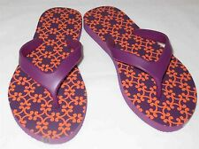 VERA BRADLEY FLIP FLOPS SAFARI SUNSET ORANGE AND PURPLE SHOE SUMMER SANDAL NEW