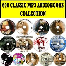 600 Mp3 Classic Audio Books Collection Pc-dvds Conan Doyle Oscar Wilde Gaskell