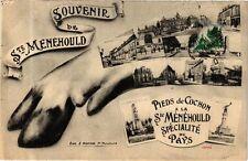 CPA  Souvenir de Ste-Menehould-Pieds de Cochon a la Ménéhould Spécialité(245243)