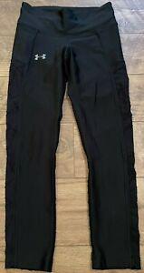 UNDER ARMOUR heatGEAR Compression Black Gym Yoga Athletic Leggings Pants wmns M