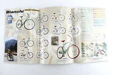 "Bianchi Bicycle Foldout Poster Catalog Reparto Corse pantani 2001 25""X40"" Nos"