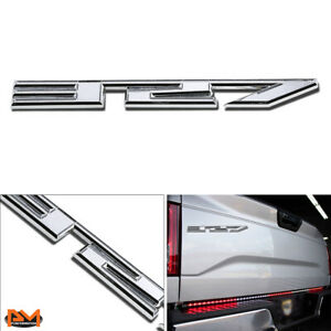"""""""327"""" Polished Metal 3D Decal Silver Emblem Sticker For GMC/Jeep/Chevrolet"""