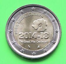 2 Euro Gedenkmünze Belgien 2014 * 100. Jahre Beginn des 1. Weltkrieges *