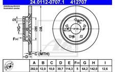 ATE Juego de 2 discos freno 282mm Para HONDA S2000 24.0112-0707.1