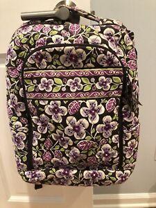 Vera Bradley Laptop Backpack - Plum Petals Pattern Excellent Condition