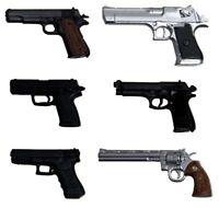 1/12 Realistic Weapon Series Realistic Handgun Six F/S w/Tracking# Japan New