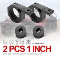 2pcs LED Work Light Bar Mount Bracket Tube Clamps w/Rubber Insert for 1inch Tube