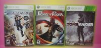 XBOX 360 GAME Lot Working! ShadowRun Tomb Raider Prince of Persia Complete