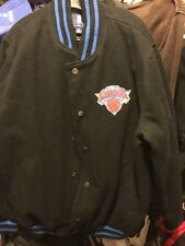 New York Knicks Basketball Black WOOL Fleece Jacket FREE SHIP