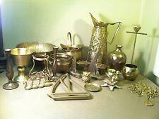 Vintage 20+ Piece Brass Lot- Bowls Pitcher Candle Holder Ducks Owl Goblet, Etc.