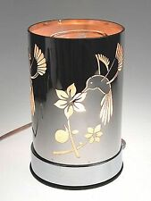Electric Aromatherapy Oil Lamp Warmer Diffuser Touch Silver Hummingbird Design