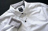 Nwt Armani Exchange Check Slim Fit Long Sleeve Shirt M XL XXL