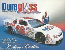 "1996 NATHAN BUTTKE ""DURAGLOSS CAR CARE"" #66 NASCAR BUSCH SERIES POSTCARD"