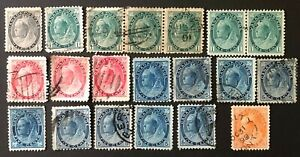 CANADA 1898-1902 #s 74/79, 88 - QUEEN VICTORIA 'NUMERAL' ISSUE   USED