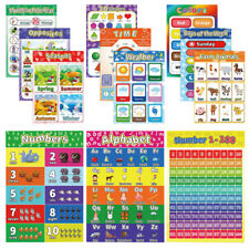 New listing 12pcs Child Early Learning Wall Poster Preschool Educational Posters for School