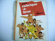 BD GOTLIB RUBRIQUE A BRAC TOME 3 - 1975
