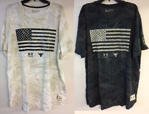 "Under Armour Men's UA Project Rock Vet Day Flag T-Shirt Dwayne ""Rock"" Johnson"