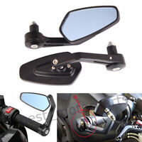"""Motorcycle Black 7/8"""" Handle Bar End Side Mirrors For Ducati Monster 800 600 400"""