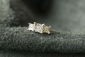 Silver ring 925 trilogy with 1 diamond genuine