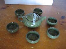 Chinese Porcelain Kung Fu Tea Cup Ceramic Ice Crack Design Glaze Pot Cups Set
