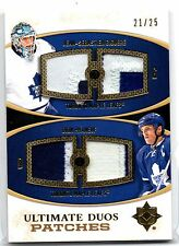 2010-11 Ultimate Collection Ultimate Duos Patch Giguere Phaneuf 21/25
