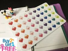 PP197 -- Small Heart Locks Life Planner Stickers for Erin Condren 45pcs