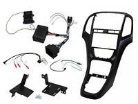 Mascherina kit completo Doppio 2 DIN Opel Astra J NERA SOFT con comandi volante