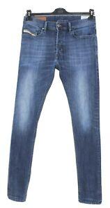 DIESEL Tepphar Men Jeans Size W29 L32 Slim Fit Carrot Blue Denim