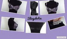 "'04*Chantal Thomass for Victoria Secret* ""34C"" Purple/Blk Striped Balconette Bra"