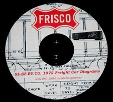 "St. Louis - San Francisco ""Frisco Railroad"" Freight Car Diagram PDF Pages on DVD"