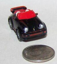 Small Micro Machine Plastic Porsche 911 Convertible Sports car in Black & Red